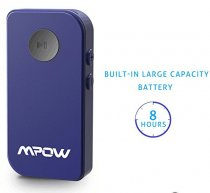 Mpow Bluetooth Receiver, A2DP Streambot Hands-free &Wireless car kits for Home/Car Audio System,Blue