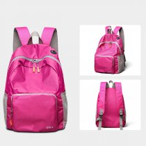 Nylon Waterproof Lightweight Fold Over Large Capacity Travel Sport Outdoor Backpack Women and Men
