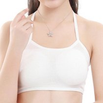 Cosy Wireless Soft Backless Bandeau Soild Color Hollow Out Camisole Yoga Bras