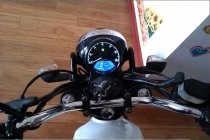Motorcycle LED backlight tachometer instrument