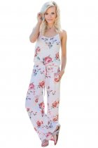 Floral Wide Leg Jumpsuit in White