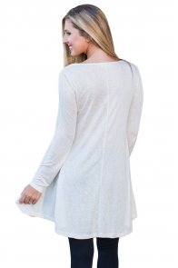 White Swingy Layered Long Sleeve Tunic