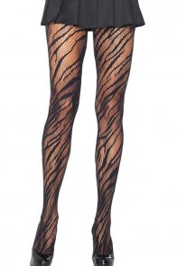 Black Zebra Net Pantyhose