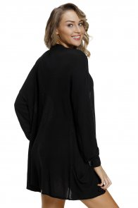 Black Lightweight Knit Cardigan with Pockets