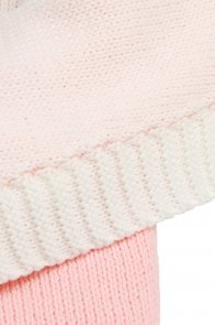 Pink Knit Baby Receiving Blanket