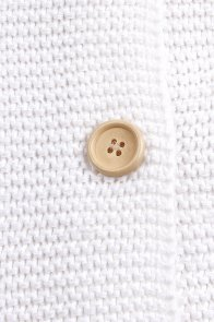 White Knit Hooded Infant Receiving Blanket