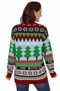 Christmas Fashion Sweater with Christmas Trees