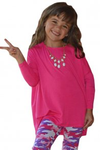 Rosy Soft Cotton Long Sleeve Girl Top