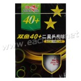 Double Fish Table Tennis Ball New Materials 2-Star 40+, white
