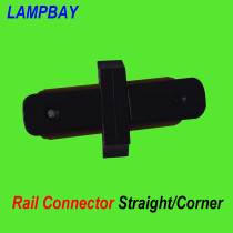 Straight/Corner track light rail connector two wires black / white available
