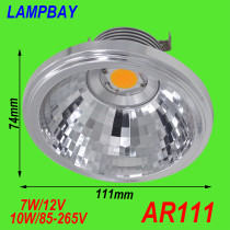 LED AR111 Bulb 7W 12V 10W with extra driver 110V/220V G53 base QR111 reflector cup lamp