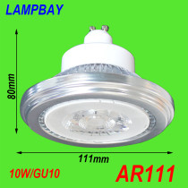 LED AR111 Bulb 10W GU10 15W G53 with extra driver 85-265V down lights