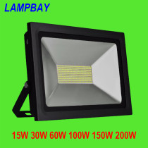 LED Flood Lights Ultra thin 15W 30W 60W 100W 150W 200W 90lm/w 110V/220V Waterproof IP65  Outdoor Garden Projectors