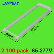 U shaped LED Tube Light 2ft 20W T8 G13 Bi-pin Retrofit Bulb Fluorescent Lamp work into exist fixture 110V-277V