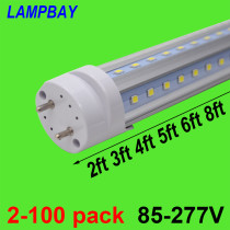 V shaped LED Tube Lights 2ft 3ft 4ft 5ft 6ft Retrofit Fluorescent Bulb Super Bright 24  36  48  60  70  T8 G13 Bar Lamp