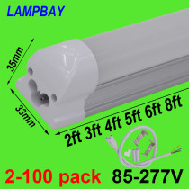 LED Tube Light 2ft 3ft 4ft 5ft 6ft 8ft T8 Integrated Bulb Fixture Surface Mounted 0.6m 0.9m 1.2m 1.5m 1.8m 2.4m Bar Lamp