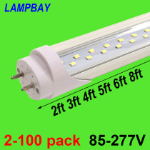 Double Row LED Tube Lights 2ft 3ft 4ft 5ft 6ft T8 G13 Fluorescent Retrofit Bulb Super Bright Lamp 48  1.2m Bar Lighting