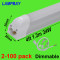 Dimmable LED Tube Light 4 foot 1.2m T5 Integrated Bulb Fixture 48  Slim Bar Lamp Linkable Linear Lighting Dimming 20W 24W