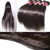 8A 5pcs Brazilian Silky Straight Virgin Hair 500g