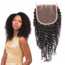 Unique Popular Indian Virgin Kinky Curl Lace Closure Hair