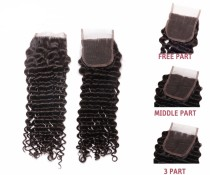 Quality Brazilian Virgin Deep Wave Lace Closure Hair
