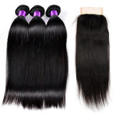 Hot Beauty Hair Product 3bundles 22inch  Straight Hair Free shipping get 14inch closure free