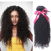 Factory Price Mongolian Deep Curl Virgin Hair 100g