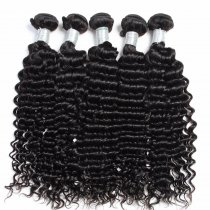 500g Cheap Brazilian Deep Curl Virgin Hair