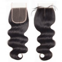 High Quality Brazilian Virgin Body Wave Lace Closure Hair