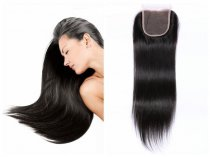Brazilian Virgin Silky Straight Lace Closure Hair