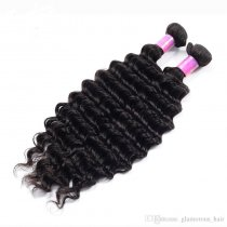 Competitive Price Indian Deep Wave Virgin Hair 200g