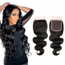 Popular Virgin Body Wave Lace Closure Hair Free Part  Style
