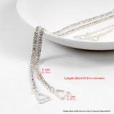 Closecret Women's Dense Rhinestone Bra Straps(Silver, 1 Pair)
