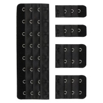 Closecret Women's 3 Rows 3/4 inch Long-line Bra Corset Back Extender 8 - 14 Hooks(5pcs/lot,black)