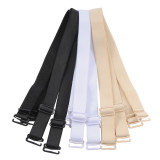 Closecret Women's Convertible Bra Straps with 12mm and 15mm Width Optional(3 pair of bra straps,Black,Nude,White)