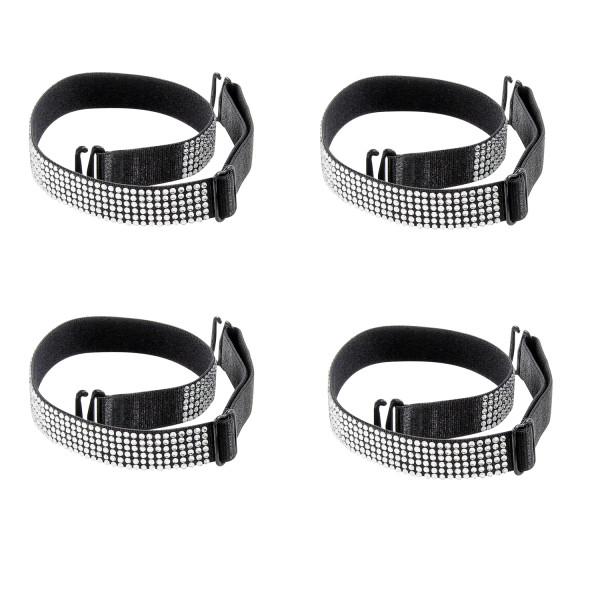 Closecret Women's 1.5cm Width Bra Shoulder Straps with Rhinestones(2 pair )