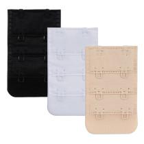 Closecret Women's Nylon Bra Extender,Pack of 3pcs,Multi-size Optional(3pcs/lot)(2 Hooks 3/4 Inch Spacing )