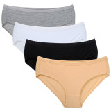 Closecret Women Completely Black Cotton Hipster Panty (Pack of 4)