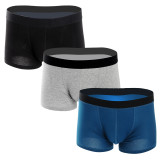 Closecret Men Underwear Soft Comfort Boxer Brief with Elastic Waistband& Contoured Pouch(3 pack)