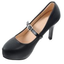 Closecret Women's Detachable PU Leather Handy Elasticated Shoe Straps,High Heels Anti-loose Shoelace Accessories(Black)