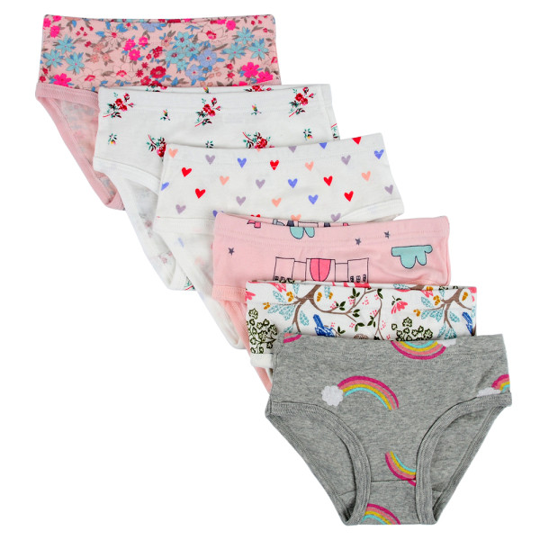 Closecret Kids Series Soft Cotton Baby Panties Little Girls' Assorted Briefs(Pack of 6)
