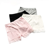 Bossail 3-12 Years Girls Solid Color Lace Trim Boyshort Underwear Safety Dress Panties 4 Pack