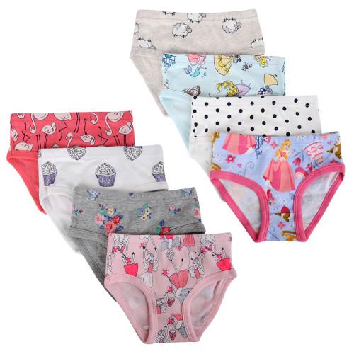 Closecret Kids Series 8-Pack Baby Soft Cotton Panties Little Girls Assorted Briefs