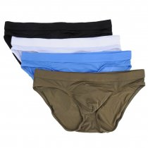 Men's Sexy Comfort Bikinis Lightweight Soft Underwear(4pcs/lot)