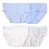 Closecret Kids Series Soft Cotton Underwear Little Boys' Assorted Briefs(Pack of 6)