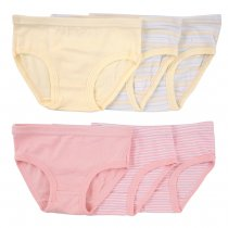 Closecret Kids Series Soft Cotton Panties Little Girls' Assorted Briefs(Pack of 6)