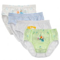 Closecret Kids Series Baby Underwear Little Boys' Lightweight Cotton Briefs (Pack of 4)