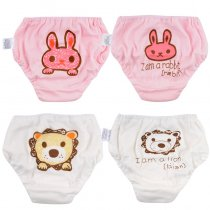 Closecret Kids Series Baby Underwear Little Girls' & Boys' Cotton Bloomers Panties (Pack of 4)