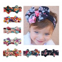 Baby Girl's Headbands Chiffion Flower Head Accessories for Toddler Kid's Turban Knotted Headwear(Pack of 7)