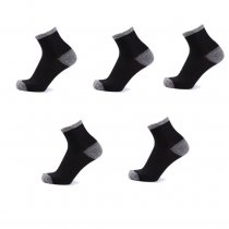 Men's Outdoor Sports Socks Knee-High Cotton Socks Cushion Crew Socks(5pairs/lot)